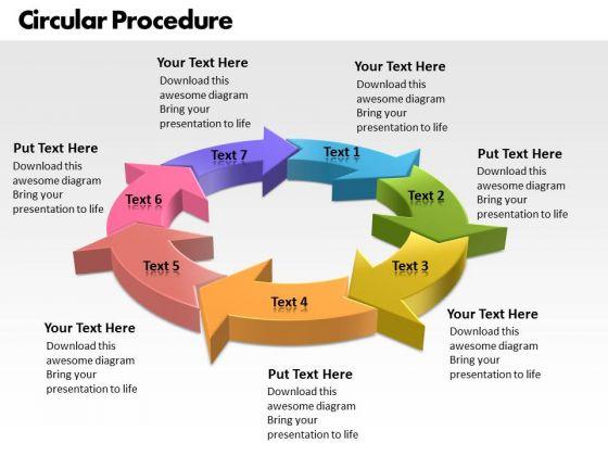 Ppt Representation Of Circular Procedure 7 State Diagram PowerPoint Templates