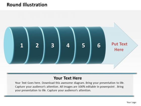 Ppt Round Description Of 6 Steps Involved Procedure PowerPoint Templates