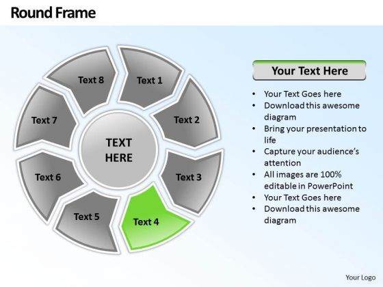 Ppt Round Frame 8 Stages PowerPoint Templates