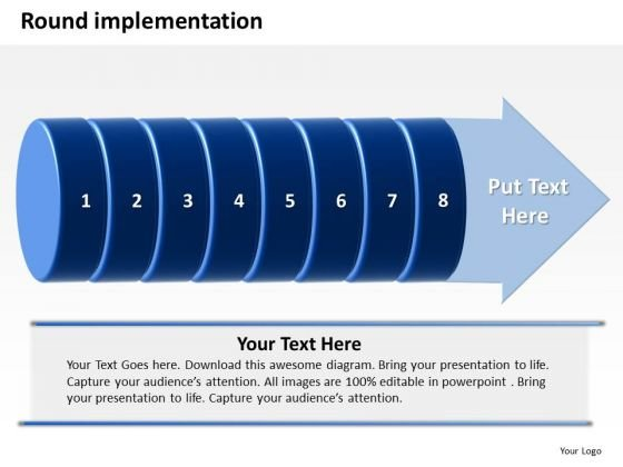 Ppt Round Implementation Of 8 Steps Involved Procedure PowerPoint Templates
