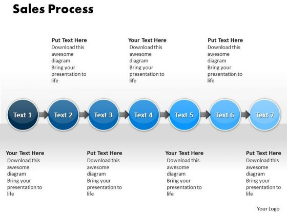 Ppt Sale Process 7 Stages PowerPoint Templates