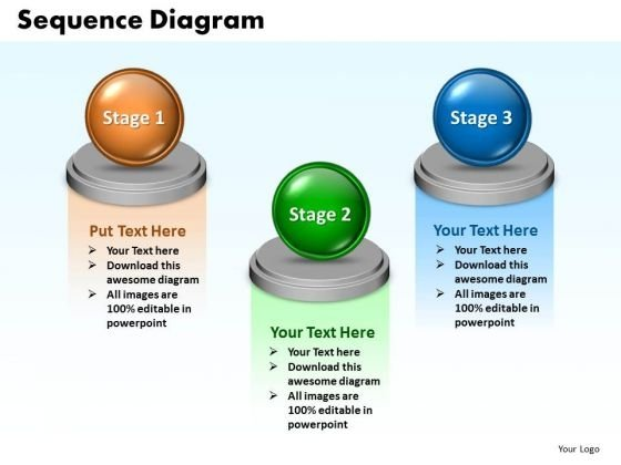Ppt Sequence Spider Diagram PowerPoint Template 3 Stages Templates