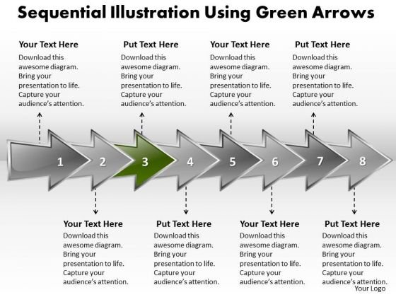 Ppt Sequential Arrows PowerPoint 2007 Templates