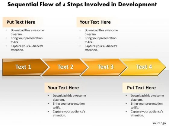 Ppt Sequential Process Of 4 Steps Involved Development PowerPoint Templates
