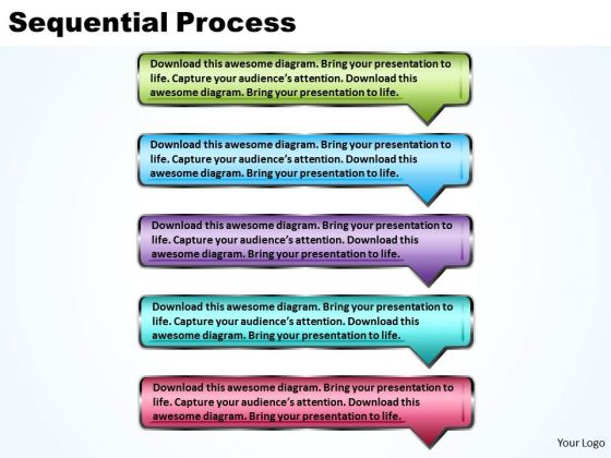 Ppt Sequential Process Using Rectangular 3d Arrows PowerPoint Templates