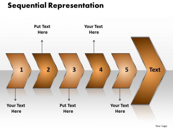 Ppt Sequential Representation Of 5 Steps Using Circular Arrows PowerPoint 2010 Templates