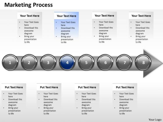 Ppt Sequential Representation Of Marketing Process Using 8 Stages 4 PowerPoint Templates