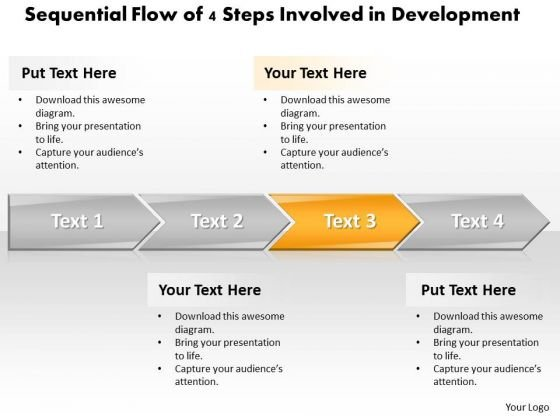 Ppt Sequential Series Of 4 Steps Involved Development PowerPoint Templates