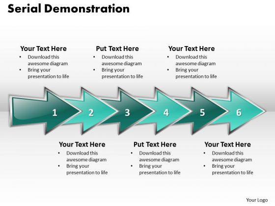 Ppt Serial Demonstration Using Arrows Six Practice The PowerPoint Macro Steps Templates
