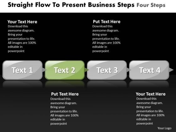 Ppt Series To Present Concept Download Steps Four PowerPoint Templates