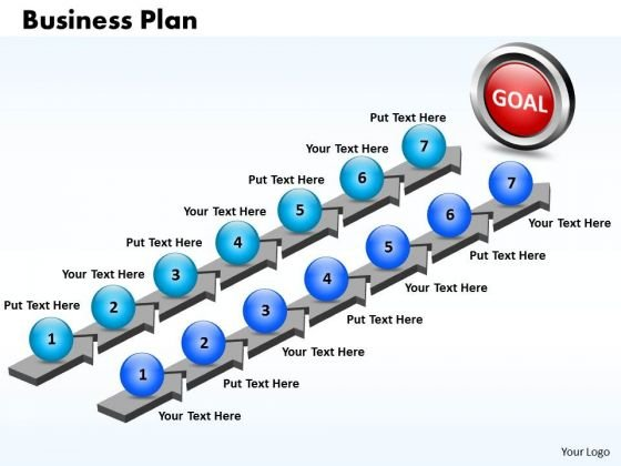 Ppt Seven Step Business Plan PowerPoint Business Templates