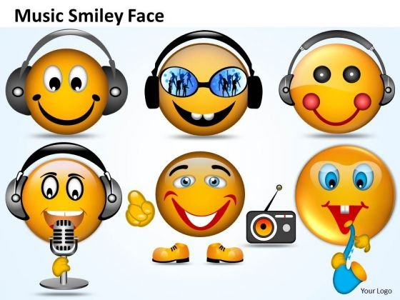 Ppt Singing Smiley Emoticon With Mike PowerPoint Templates