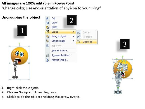 ppt_singing_smiley_emoticon_with_mike_project_management_powerpoint_templates_2