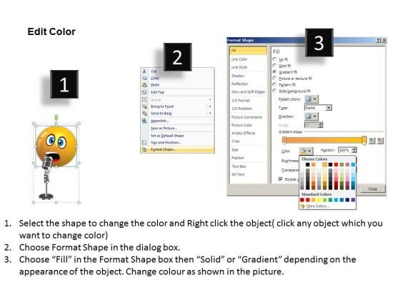 ppt_singing_smiley_emoticon_with_mike_project_management_powerpoint_templates_3