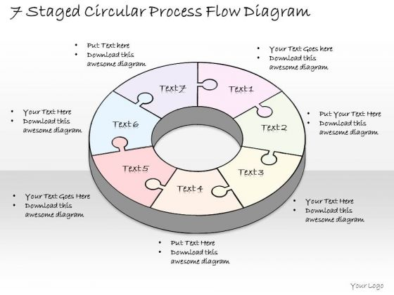 Ppt Slide 1814 Business Diagram 7 Staged Circular Process Flow PowerPoint Template Sales Plan