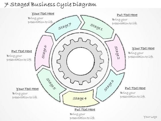 Ppt Slide 1814 Business Diagram 7 Staged Cycle PowerPoint Template Sales Plan