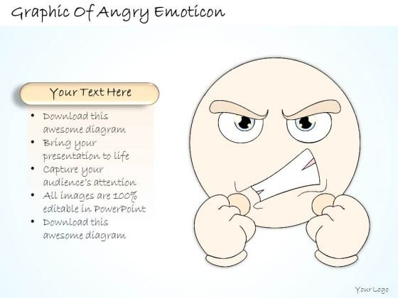 Ppt Slide 1814 Business Diagram Graphic Of Angry Emoticon PowerPoint Template Consulting Firms