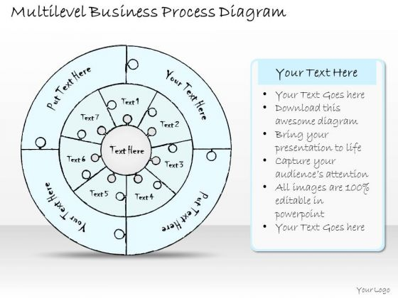 Ppt Slide 1814 Business Diagram Multilevel Process PowerPoint Template Consulting Firms