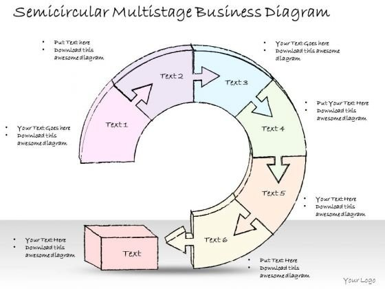 Ppt Slide 1814 Business Diagram Semicircular Multistage PowerPoint Template Consulting Firms