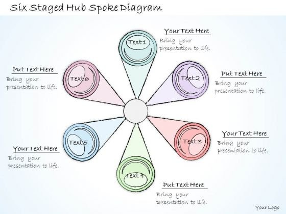 Ppt Slide 1814 Business Diagram Six Staged Hub Spoke PowerPoint Template Diagrams
