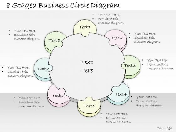 Ppt Slide 1814 Business Diagram Staged Circle PowerPoint Template Sales Plan