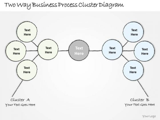 Ppt Slide 1814 Business Diagram Two Way Process Cluster PowerPoint Template Plan