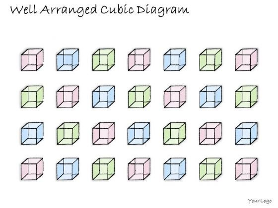 Ppt Slide 1814 Business Diagram Well Arranged Cubic PowerPoint Template Plan