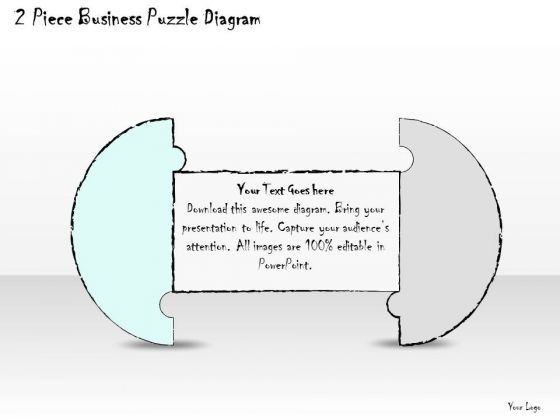 Ppt Slide 2 Piece Business Puzzle Diagram Consulting Firms