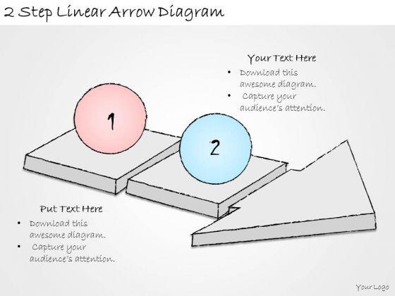 Ppt Slide 2 Step Linear Arrow Diagram Strategic Planning
