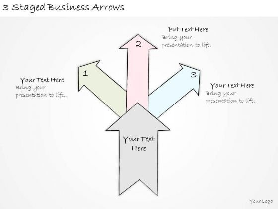Ppt Slide 3 Staged Business Arrows Consulting Firms