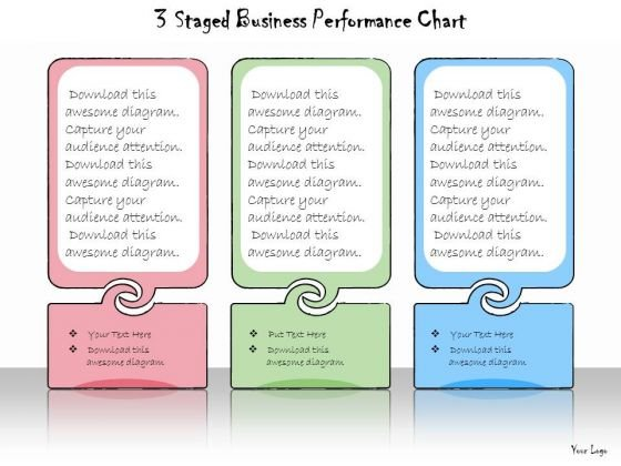 Ppt Slide 3 Staged Business Performance Chart Marketing Plan
