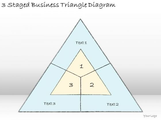 Ppt Slide 3 Staged Business Triangle Diagram Plan