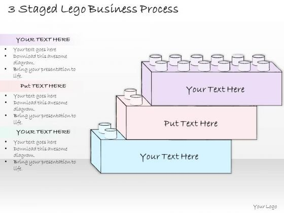 Ppt Slide 3 Staged Lego Business Process Sales Plan