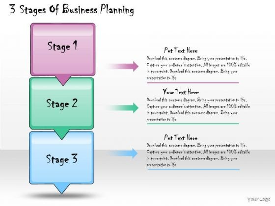 Ppt Slide 3 Stages Of Business Planning Consulting Firms