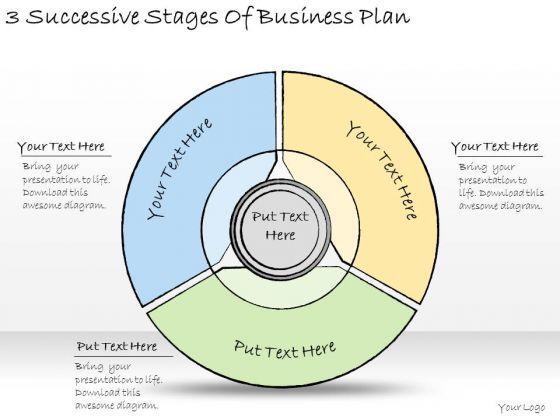 Ppt Slide 3 Successive Stages Of Business Plan Marketing