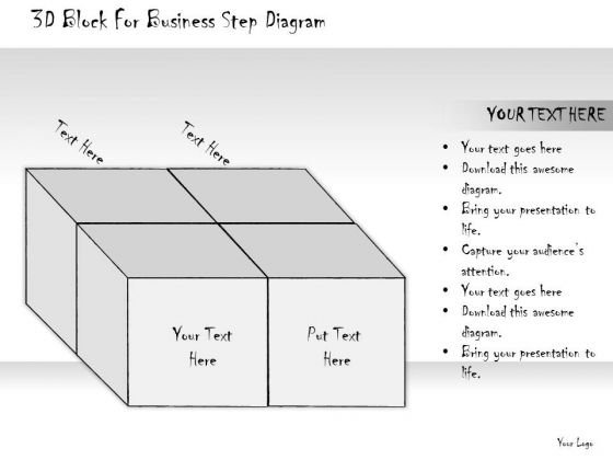 Ppt Slide 3d Block For Business Step Diagram Consulting Firms