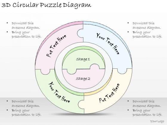 Ppt Slide 3d Circular Puzzle Diagram Strategic Planning