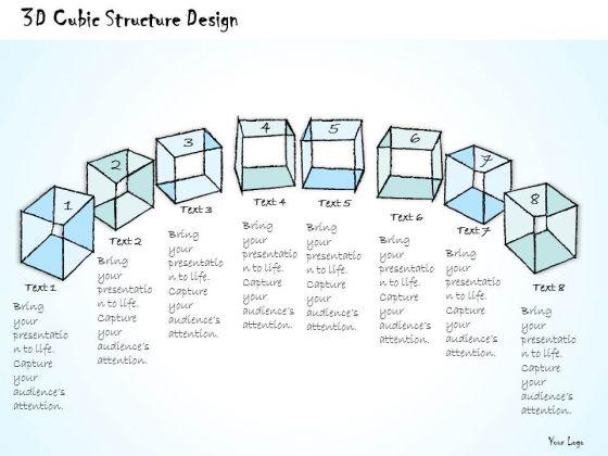 Ppt Slide 3d Cubic Structure Design Business Plan