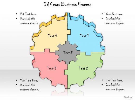 Ppt Slide 3d Gears Business Process Plan