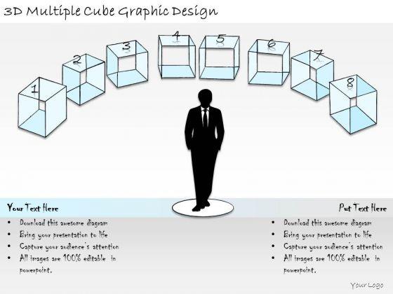 Ppt Slide 3d Multiple Cube Graphic Design Strategic Planning
