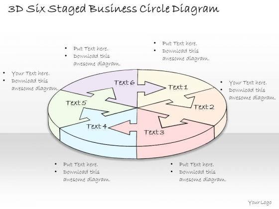 Ppt Slide 3d Six Staged Business Circle Diagram Diagrams