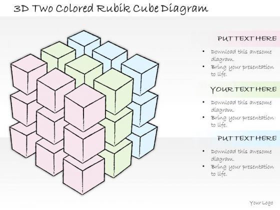 Ppt Slide 3d Two Colored Rubik Cube Diagram Consulting Firms