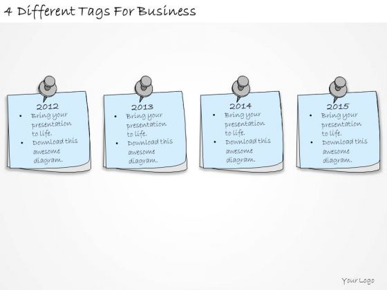 Ppt Slide 4 Different Tags For Business Plan