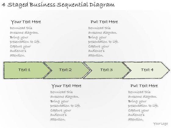 Ppt Slide 4 Staged Business Sequential Diagram Plan