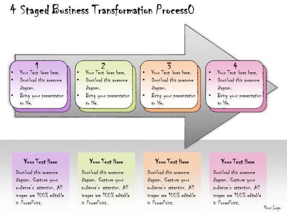 Ppt Slide 4 Staged Business Transformation Process Marketing Plan