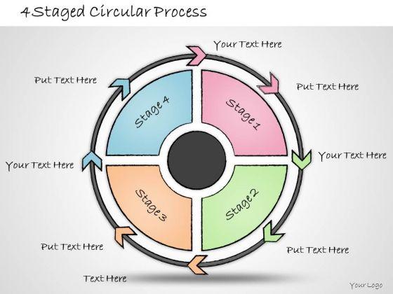 Ppt Slide 4 Staged Circular Process Marketing Plan