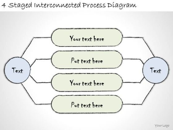 Ppt Slide 4 Staged Interconnected Process Diagram Marketing Plan