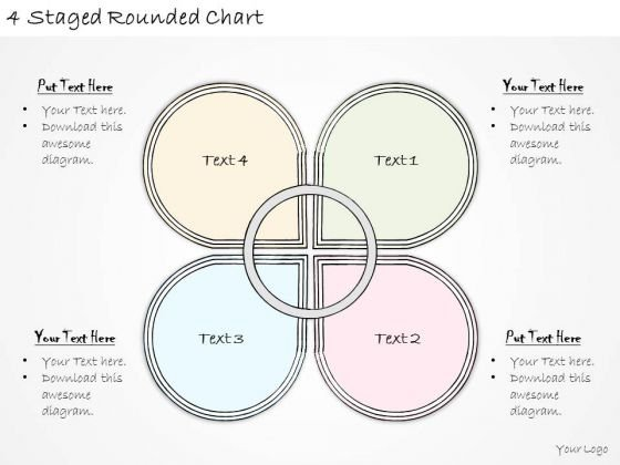 Ppt Slide 4 Staged Rounded Chart Marketing Plan