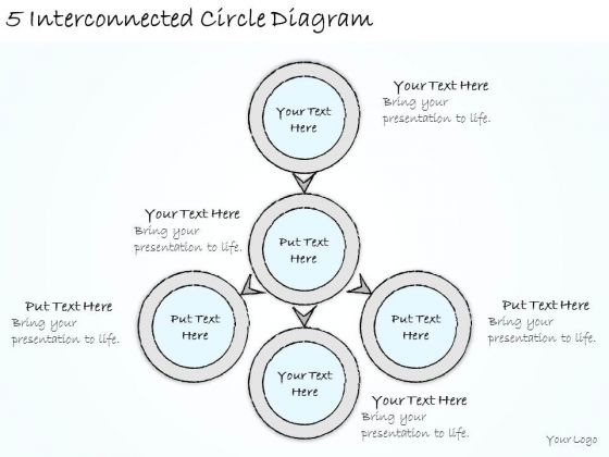 Ppt Slide 5 Interconnected Circle Diagram Consulting Firms
