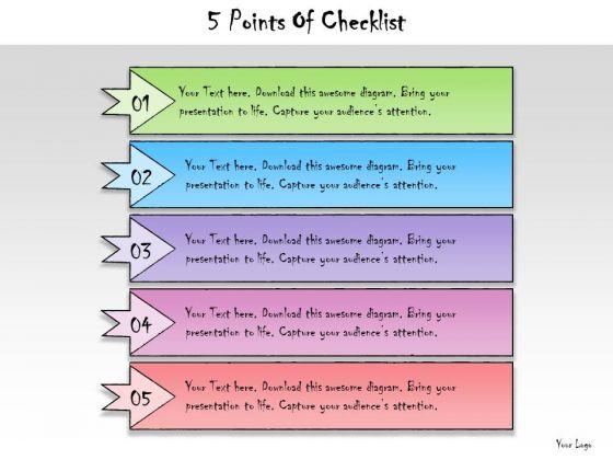 Ppt Slide 5 Points Of Checklist Strategic Planning